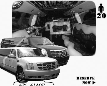 Cadillac Escalade 20 passenger SUV Limousine for rental in Austin, TX